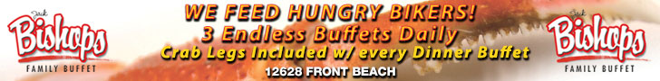 Bishops Buffet - Capt Jack's, Feeding Hungry Bikers!