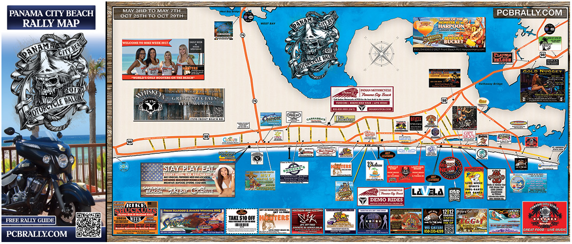 Official 2017 Panama City Beach Motorcycle Rally® Map