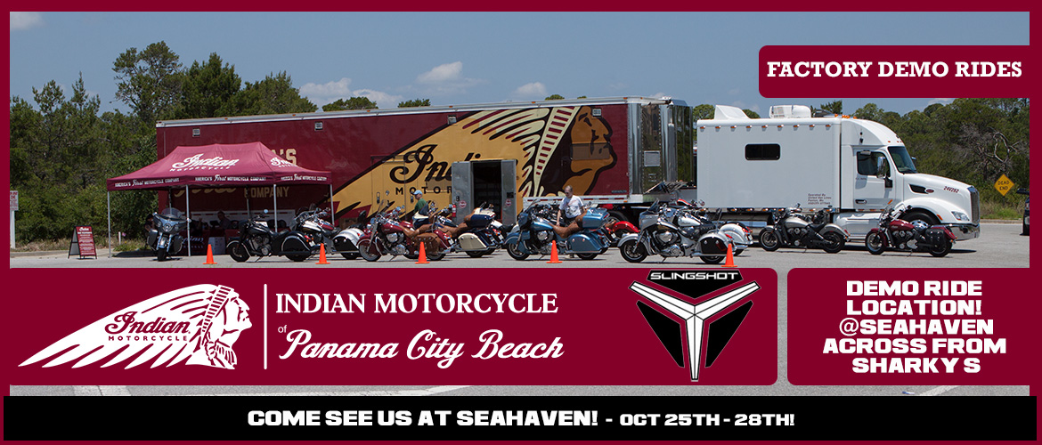 Indian Motorcycle of Panama City Beach Fall 2017 Demo Rides
