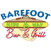 Barefoot Hide A Way is one of the few gulf front bar and grills located right on Panama City Beach