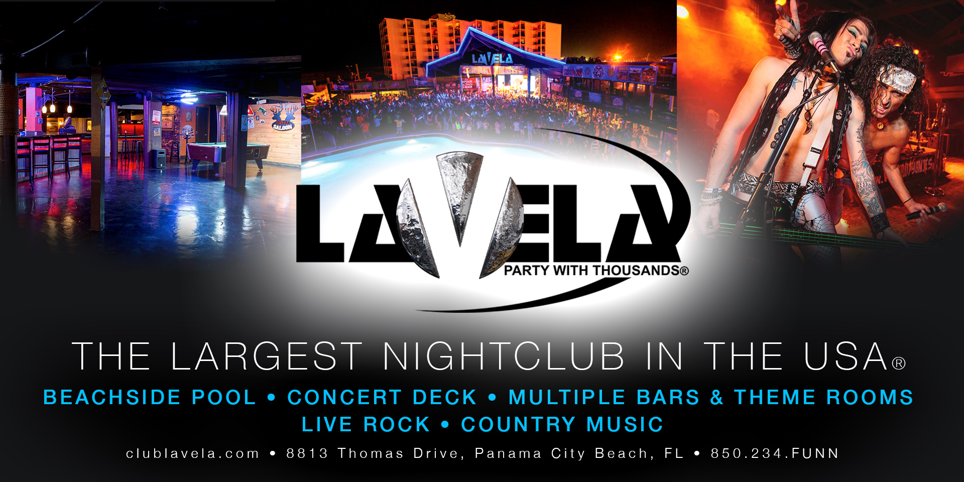 Panama City Beach Motorcycle Rally® Venue | Club La Vela - Party with Thousands! | Spring 2018 Schedule
