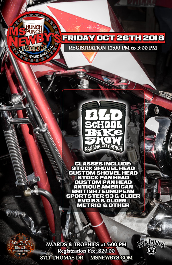 2018 Old School Bike Show at Ms. Newby's Panama City Beach