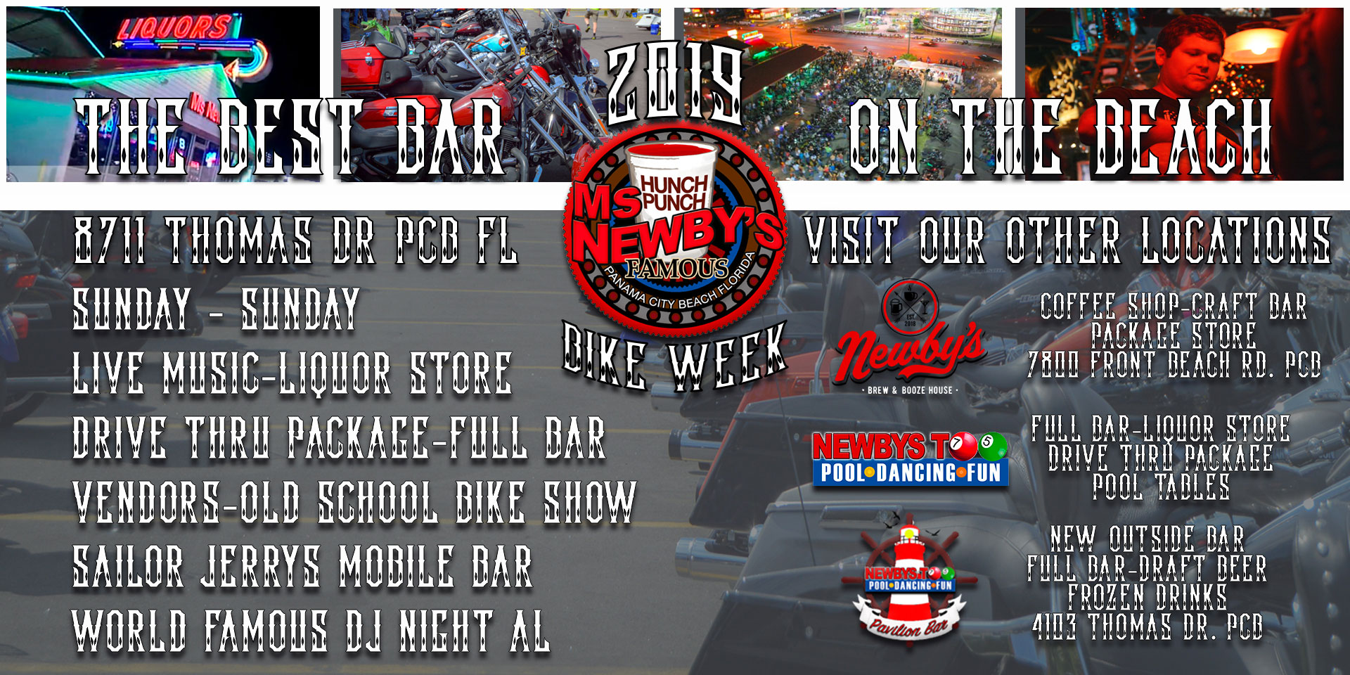 Spring 2019 Panama City Beach Motorcycle Rally® | Ms. Newby's Bike Week
