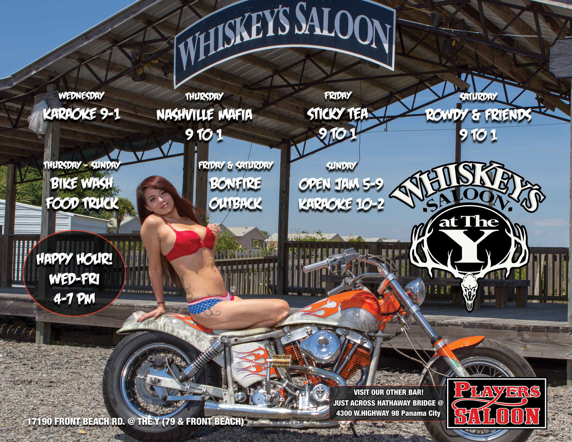 Whiskey's Saloon Panama City Beach | Rally Venue