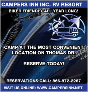 Panama City Beach Motorcycle Rally® Lodging | Campers Inn RV Park